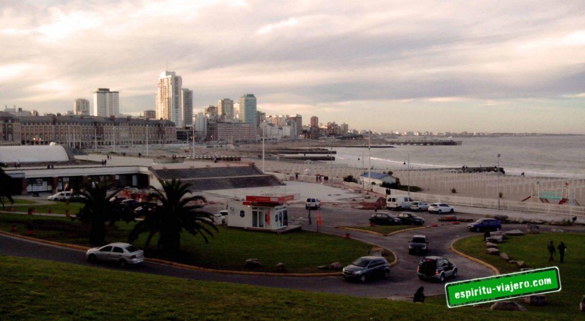 Mar del Plata atardecer